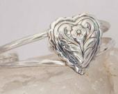 Heart Bracelet Sterling Silver Valentine's Day Handmade