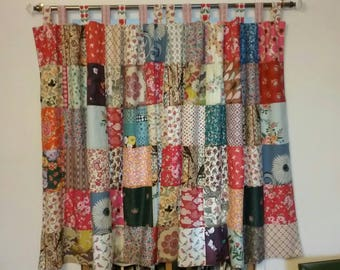 Perfect Patchwork Curtains Shabby Chic Gipsy Style Kitchen CurtainsBathroom Curtains  Tab Tob