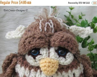 Summer Sale Crochet Pattern Owl by Teri Crews instant download PDF format