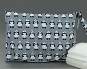 Diaper & Wipe Clutch in Teeny Pandas Fabric, Mini Diaper Bag, Diaper Clutch, Nappy Case, Travel Small Diaper Bag, Mini Nappy Bag, Panda Baby
