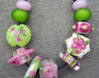 SALE Nantucket, Set 2 Lampwork Beads
