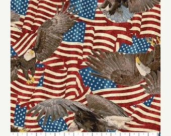 Patriotic God Bless America Fabric America Scenes Very