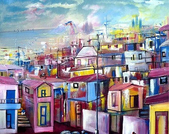 "Art of Haiti, Haitian Art -  Haitian Canvas Painting - Ethnic Art, Canvas Art, Original Painting - 20"" x 24"""