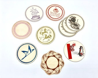 Vintage 70s Various Paper Coasters by Royal Catchall Coasters — Great Condition!