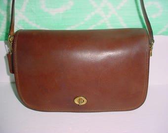 Vintage Coach dark brown  leather Bonnie Ca shin Cross body Shoulder bag .