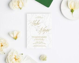Wedding Invitation Sample - The Halee Suite