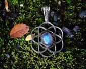 Moonstone Seed of Life Pendant