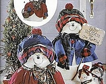 "28"" Snowflake Man and Lady and 11"" Snowbabies Pattern B5785"