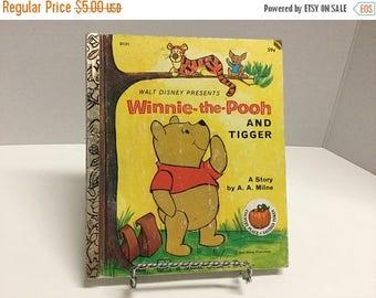 Sale Vintage Little Golden Book Winnie the Pooh and Tigger Book 1977 Walt Disney
