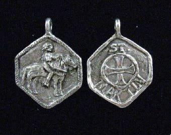 Handmade St. Martin Medallion: Patron of Horses and Their Riders