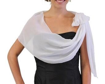 Summer Sale Chiffon Bridal Wrap Wedding Shawl - Ivory 5139CH