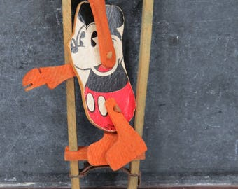 Mickey Mouse Acrobat Trapeze Toy Marks Brothers Disney Pie Eye Mickey