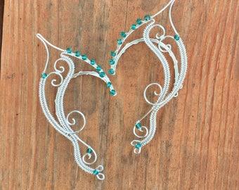 Water Nymph Cuffs. Elven Ear Cuffs. Silver Elven Ear Cuffs. Elf Ears. Halloween Costume. Fairy Ears. Ear Cuffs. Elven Ear Wraps. Fairy Cuffs