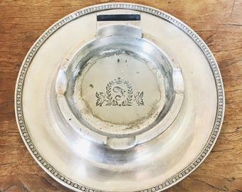 Vintage 1954 Silver Plate Cigar Ashtray from The Fontainebleau Hotel Miami