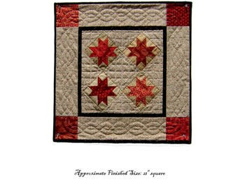 Ohio Star Quilt Pattern PDF Reproduction Traditional Style QRD390