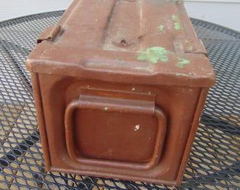 Vintage Ammo Box , Military Ammunition Steel Box 1942