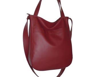 5514, leather hobo bag claret, vegan leather hobo bag claret, crossbody bag claret, shoulder bag claret, claret crossbody bag, crossbody bag