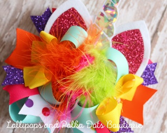 Unicorn Stack Boutique Bow OOT