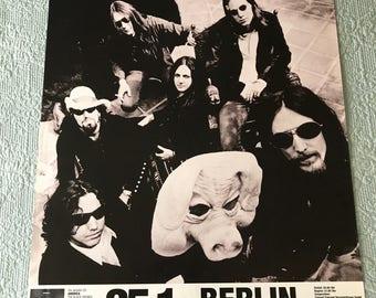 "Original 1995 Black Crowes Tour America Or Bust  German Concert Poster Berlin 23 1/4"" X 32"""