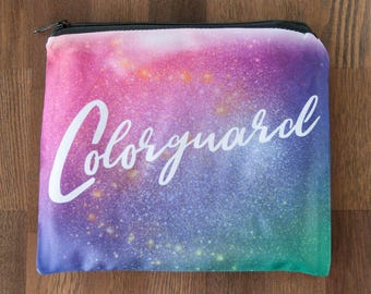 Colorguard Themed Large 8 x 10 Cosmetic Bag