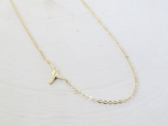 Tiny Bird Necklace | Bird Necklace | Bird Jewelry | Layering Necklace | Dainty Necklace | Gift for Her | Christmas Gift