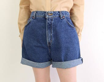 VINTAGE Levis Denim Shorts Made in USA Relaxed Fit Blue Jeans