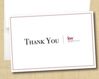 Set of Thank You Cards - Keller Williams Border Design