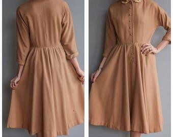 25% Off Sale // 1950s Dress // Jonathan Logan Wool Dress // vintage 50s dress