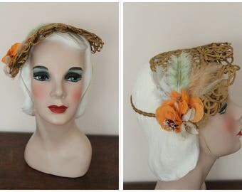 1930s Hat // New York Late Summer Hat // vintage 30s hat