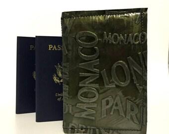 ON SALE RFID Passport Cover / Rfid Leather Passport Cover / Double Passport Cover / Rfid Leather Passport Holder / Leather Passport Wallet