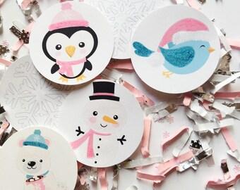 Winter ONEderland Decorations Girl, Pink & Silver, Winter Wonderland Girl Birthday, Snowflake Birthday Decorations, Snowflake Birthday Party