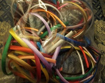 Satin covered headbands