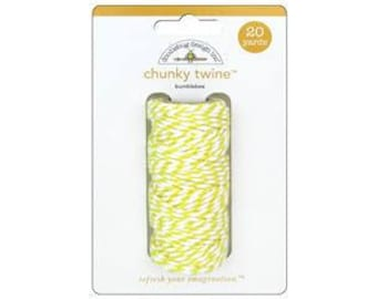 YELLOW Chunky Baker's Twine - Cotton Twine - 20 yards - Favor Packaging - Doodlebug - Invitation supply
