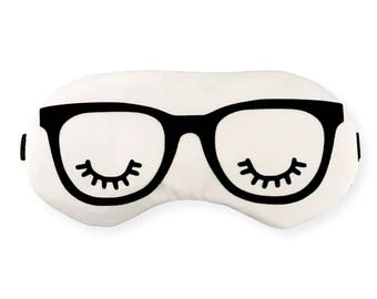 Dorm Essentials Glasses Sleep Eye Mask with Eyelashes