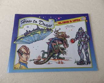 How to Draw Aliens and UFO's, Softcover booklet, 1997