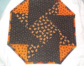 Halloween table topper quilted topper origami topper