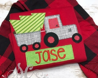 Buffalo Plaid Pajamas - Matching Christmas Pajamas - Christmas Pajamas for Boys - Pajamas for Kids - Monogrammed Pajamas