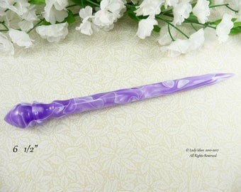 Hair Stick Longer Length Orchid Ribbons Acrylic