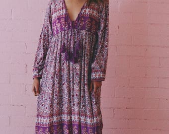 Crinkly rayon midi dress from india