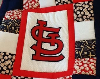 Baseball Baby Quilt - patchwork sports quilt - Custom Made