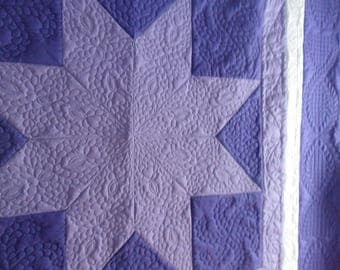 Amish traditional Lone Star Quilt