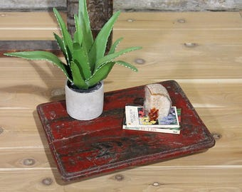 Side Table Platform Bed Red Centerpiece Indian Bajot Tray Table Boho Decor Antique  Tray Wedding Decor