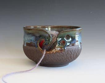 Knitting Bowl, Yarn Bowl, handmade stoneware pottery,handmade ceramic yarn bowl, READY TO SHIP