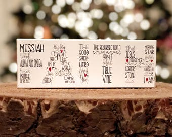 "Selah Signs FAITH - Names of Jesus mini block (7x2.5"")"