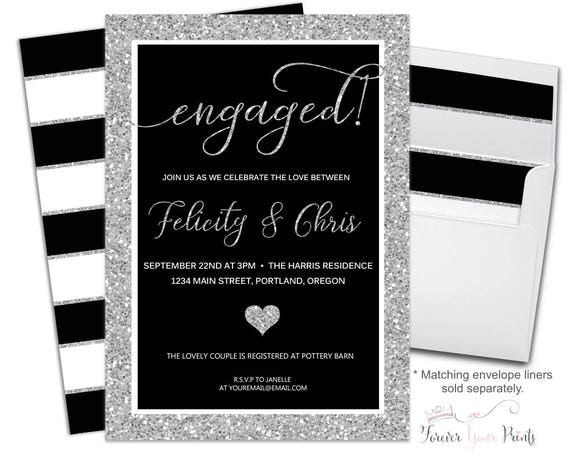 Modern Engagement Invitation - Couples Engagement Invitation - Coed Engagement - Couples Bridal Shower - Shower The Couple - Bridal Brunch