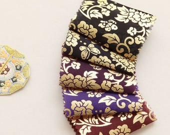 Korean Traditional Clothes Beaten Gold Sheer Hanbok Fabric By the yard (width 44 inches) 67181
