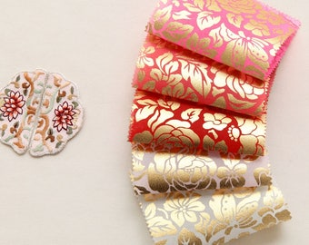 Korean Traditional Clothes Beaten Gold Sheer Hanbok Fabric By the yard (width 44 inches) 67182