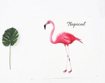 Decorative Poly Fabric panel 'Flamingo ' (50 cm x 50 cm) 90327