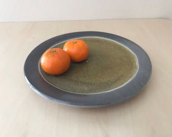 Dinner Plate with Grey Rim