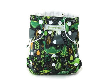 Dinosaurs Volcanoes Jungle BrontosaurusSweetPees WFREE Large UltraTRIM Zorb II Prefold Soaker Insert Cloth Diaper Cover Cloth Diapers Infant